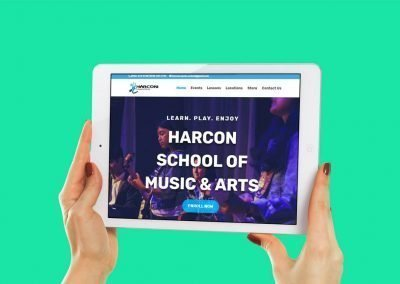 Harcon School of Music Website and Instructional Video